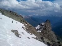 Sentiero Vioz quota 2900 mt.